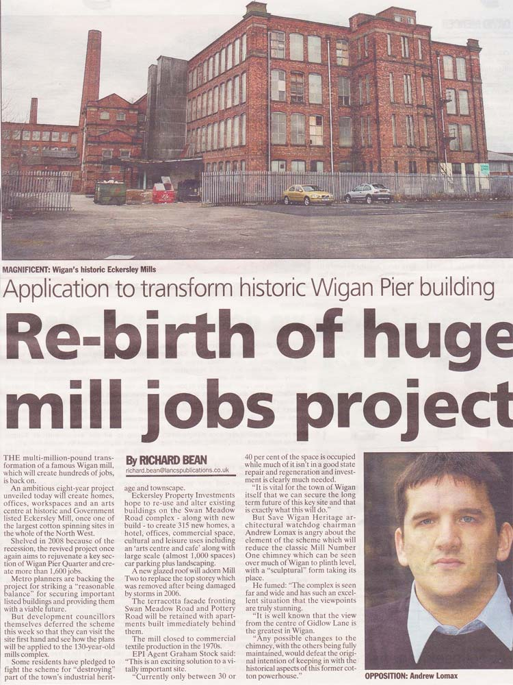 Save Wigan article in the Wigan Observer